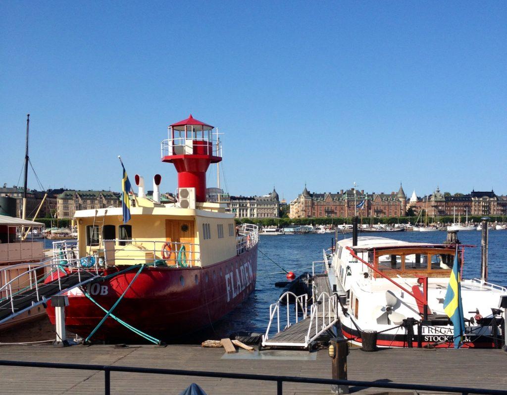 Utsikt från Kulturfyren Skeppsholmen Stockholm